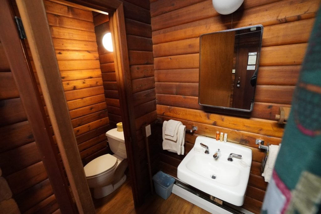 Brooks Lodge Guest Cabin bathroom - Kyle Shea